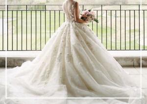 BEAUTIFUL Wedding Dress- Princess Gown