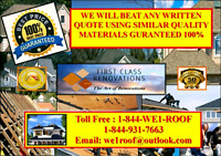 GUELPH ROOFING, BEST QUALITY JOBS,  AFFORDABLE PRICES FREE QUOTE