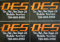 Des  Tire and Auto Repair ltd Mobile Service