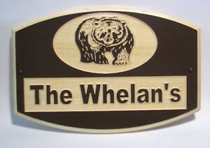 Custom Carved Wood Outdoor Signs