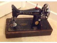 Vintage singer 28 handcrank sewing machine