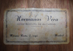 Rare Vintage 1964 Concert Classical by Hermanos Vera Kingston Kingston Area image 6