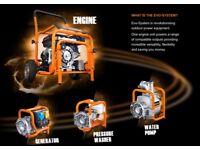 EvoSystem Engine unit + Generator 2.8 kw + Pressure Washer 220 bar