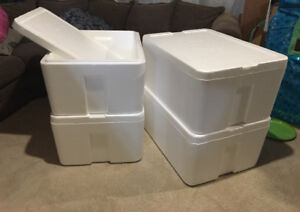 4 stackable COOLERS - take all for $40 or $15 each!