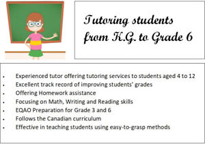 Tutoring Services for Kids Aged 4 to 12