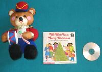 We Wish you a Merry Christmas Book with Cd and Bear Stuffie
