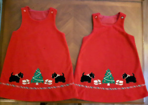 Twin girls holiday Christmas dresses size 6 clothes