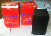 GENEXXA  PRO 7 STEREO SPEAKERS , set of 2 ,Black - NEW OLD STOCK