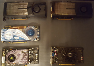GTX480, 9800GT, HD 3870 video cards for sale