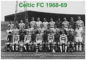 CELTIC FC 1968-69 JIMMY JOHNSTONE RONNIE SIMPSON BOBBY MURDOCH EXCLUSIVE A PRINT