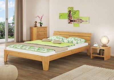 Futon Doppelbett Überlänge Bettgestell Massivholz 160x220 Rollrost 60.62-16-220
