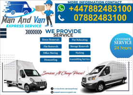 Van Hire removal service moving company or movers near me
