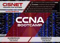 CCNA Bootcamp starting in September 10th, 2018 @ CISNET Mississa