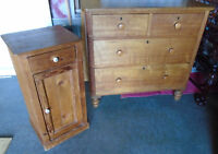 Antique collection of pine furniture