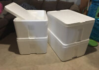 Reuseable Coolers; large/stackable. $15.00 each or $40 for all