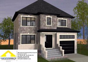 Maison 2 étages avec garage à construire