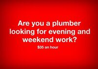 Looking for licensed plumber for occasional work.