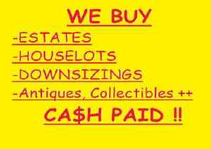 Cash Paid for Antiques, Collectables & Estate Lots