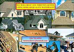 ROOFING, BEST QUALITY JOBS, ROOFERS AFFORDABLE PRICES FREE QUOTE Cambridge Kitchener Area image 1