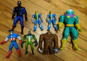 Vintage Marvel DC Action Figures 80s 90s Toy Biz