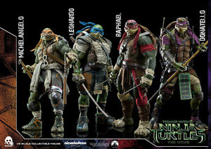 Threezero TMNT 1/6 scale figures set of 4 hot toys