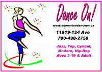 Jazz, Lyrical and Tap instructor