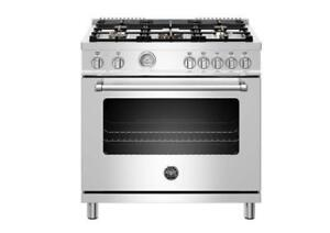 https://aniks.ca/ Bertazzoni MAST365DFMXE 36in Dual Fuel Range Stainless Steel aniks appliances Toronto (416) 755 1677