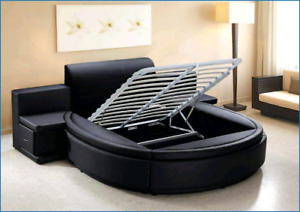 round shaped bed