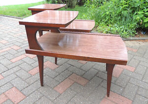 MId century end tables, end tables