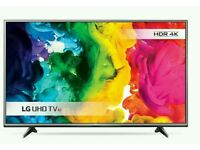 "LG 49"" LED 4K UHD smart wifi tv built USB MEDIA PLAYER HD FREEVIEW"
