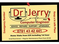 Laptop & Computer Repair Birmingham - Dr Jerry PhD Your Local Computer Engineer