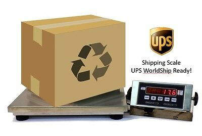 "500 LB X 0.1 LB - 14""X 16"" - SHIPPING/POSTAL SCALE WITH UPS WORLDSHIP"