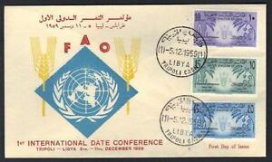 LIBYA-1959-INTL-DATE-CONFERENCE-FAO-FDC-TRIPOLI-CASH-CANCEL