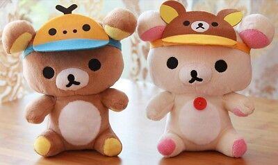 San-X Rilakkuma Plush Toy Hat Stuffed Soft Toys Set