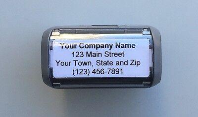 Personalized Custom 4 LINE RETURN ADDRESS SELF Inking Rubber Stamp - Grey