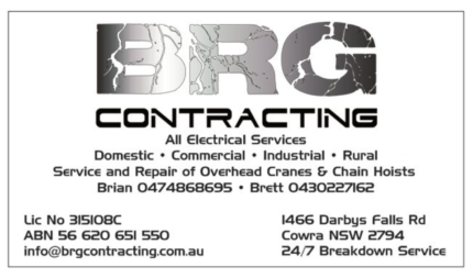 BRG CONTRACTING- Electrical Services