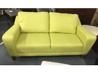 Green fabric sofa and Footstool
