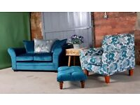 NEW Teal Velvet 2 Seater Sofa - Delivery available