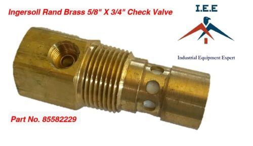"Ingersoll Rand Brass 5/8"" X 3/4"" Air Compressor Check Valve Part No. 85582229"