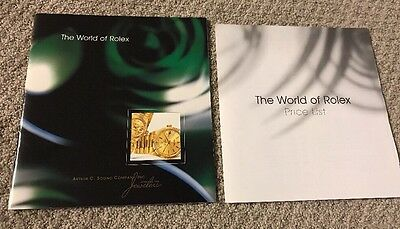 World Of Rolex Oyster Perpetual Wrist Watch Catalog Book 21 pages + Price List