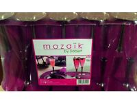 Mozaik by Sabert 50 x 10cl Strong Plastic Disposable Champagne Flute Glasses