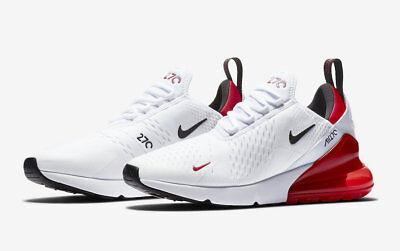 Nike Air Max 270 # BV2523 100 White University Red Men SZ 7.5 - 13