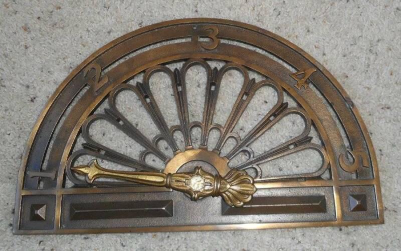 Antique Elevator Floor Indicator Dial Architectural Element