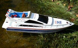 RC Speedboot mit Fernsteuerung 73 cm Luxus Yacht Boot Rennyacht Rennboot