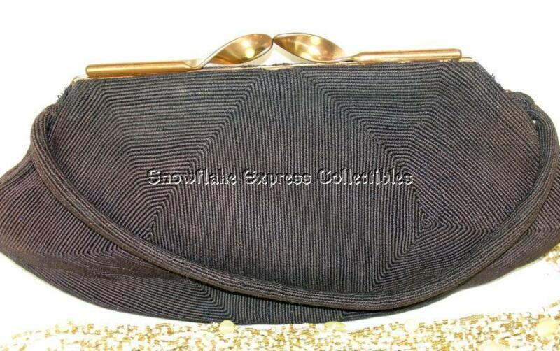 Vintage Genuine Korday Chocolate Brown Corde Ladies Arm Bag
