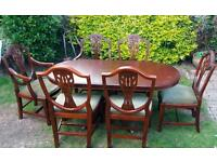 Extending dinning table with 6 chairs - free delivery