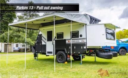 New Hybrid Caravan. Very Compact Off Road Parkes 13
