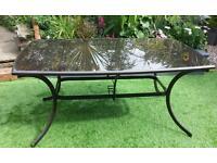 Bronze Ragoda luxury rectangular garden table