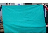 Green Canvas Welding Curtain Screen 6' x 6' Only £18.50 - Collect Halesowen B63 3SW