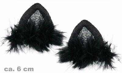 Katzenohren Pantherohren Clip ins schwarz Cosplay Kostüm Katzenkostüm 125173113F